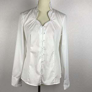 Saks Fifth Avenue Cotton Stretch Shirt T69